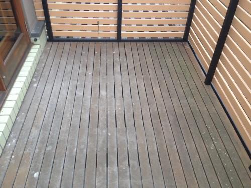 Preparation of timber decking in Melbourne Yarraville